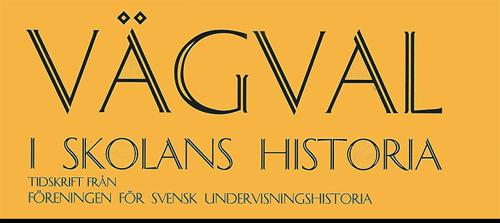 vagval-tidskrift-skolans-historia-svensk-undervisningshistoria-logo